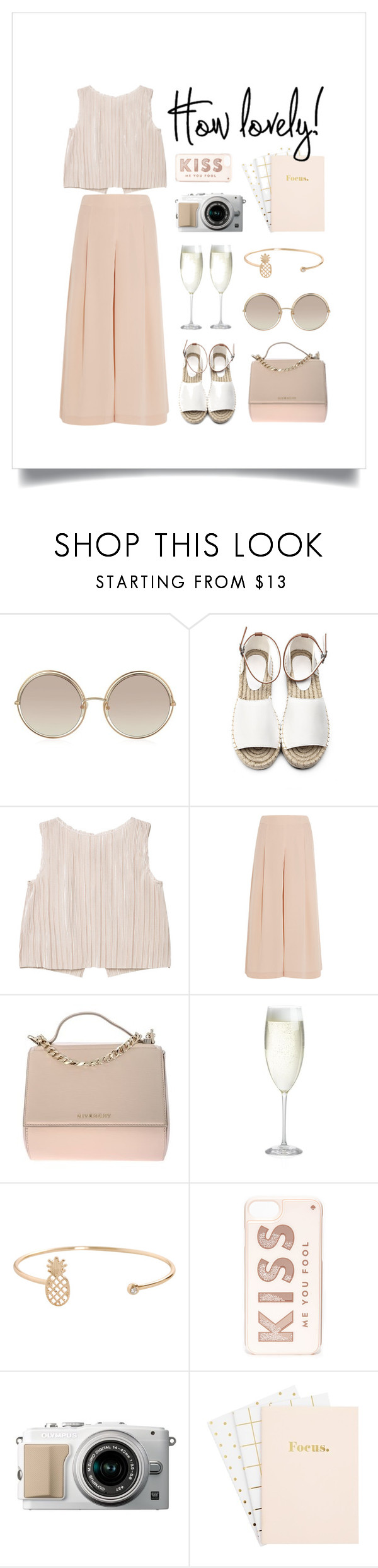 """""""Spring Vibes"""" by thedailywear ❤ liked on Polyvore featuring Marc Jacobs, MANGO, TIBI, Givenchy, Crate and Barrel, Humble Chic and Kate Spade"""