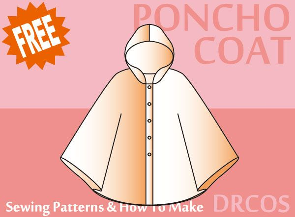 Ponchocoat sewing patterns & how to make   Ponchos   Pinterest ...