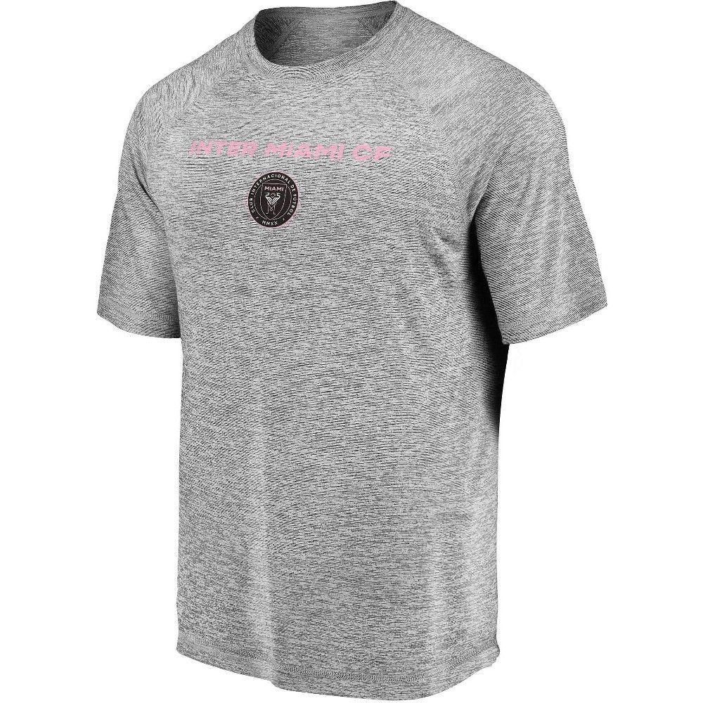 Mls Inter Miami Cf Men S Gray Short Sleeve Athleisure T Shirt Xl In 2020 Grey Shorts Athleisure T Shirts S