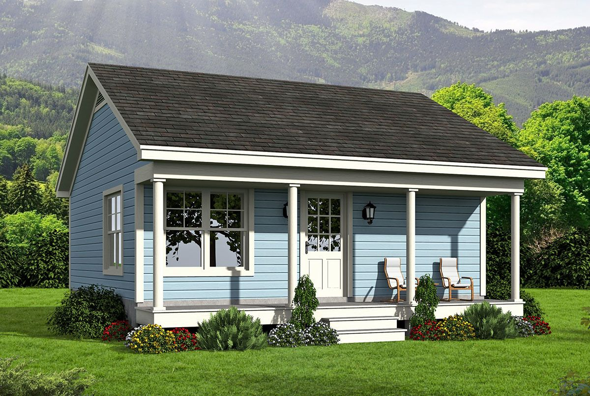 Plan 68443vr Tiny Country Home Plan Cottage Style House Plans Vacation House Plans Ranch Style House Plans