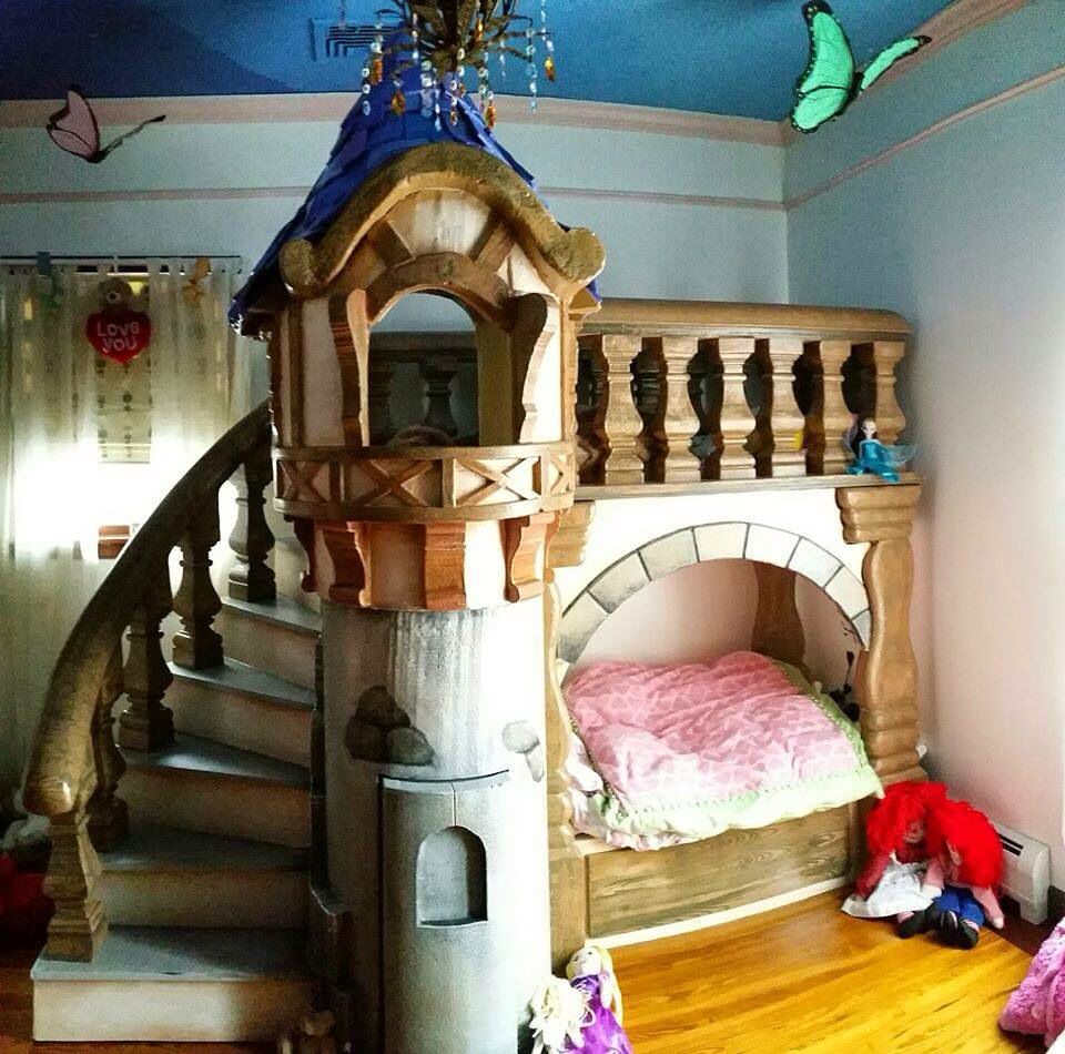 Cool Kids Bedrooms Castle Bed Bedroom Disney