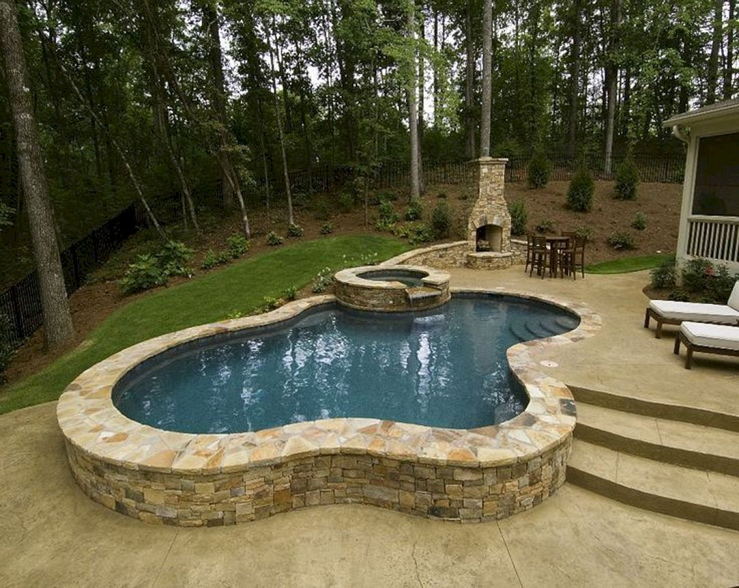 Top 112 Diy Above Ground Pool Ideas On A Budget Freshoom Com Small Inground Swimming Pools Small Inground Pool Small Backyard Pools