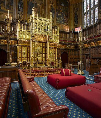 Lordu0027s Chamber, Houses Of Parliament, Westminster, London.