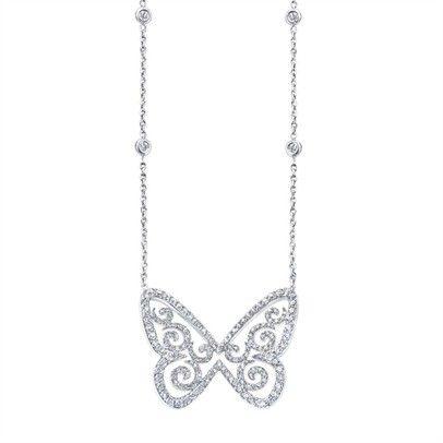 site réputé 2b4f3 69faa Valerie Messika - Collier Butterfly Arabesque - white gold ...
