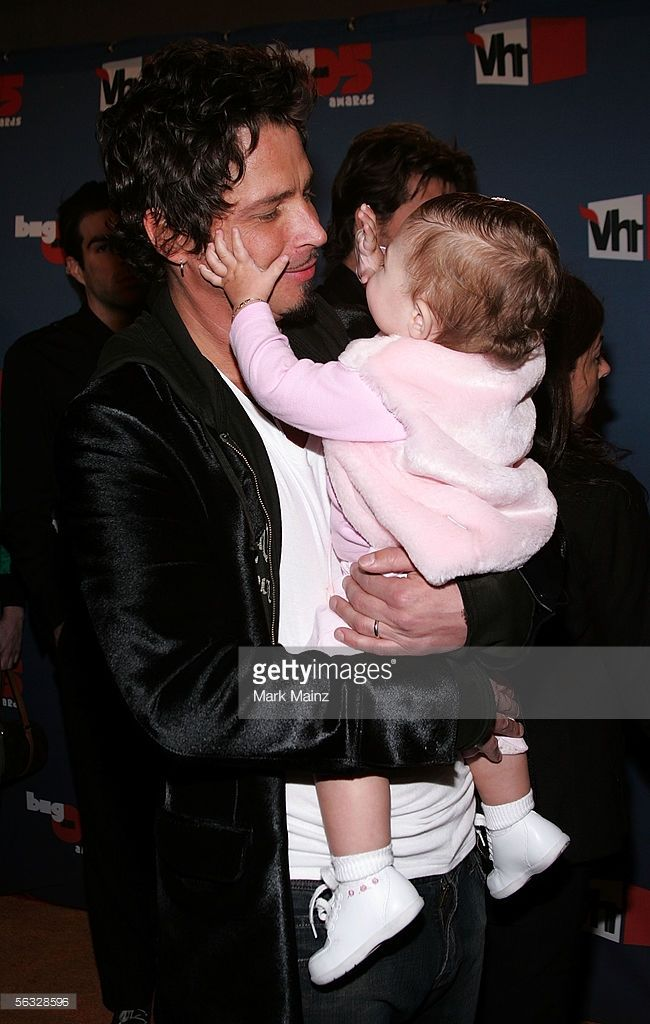 Musician Chris Cornell of Audioslave and daughter arrives at the VH1 Big In '05 Awards held at Stage 15 on the Sony lot on December 3, 2005 in Culver City, California.