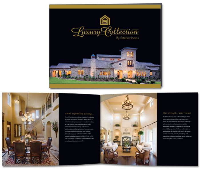 Luxury Collection by Sitterle Homes Brochure Design | Luxury home ...