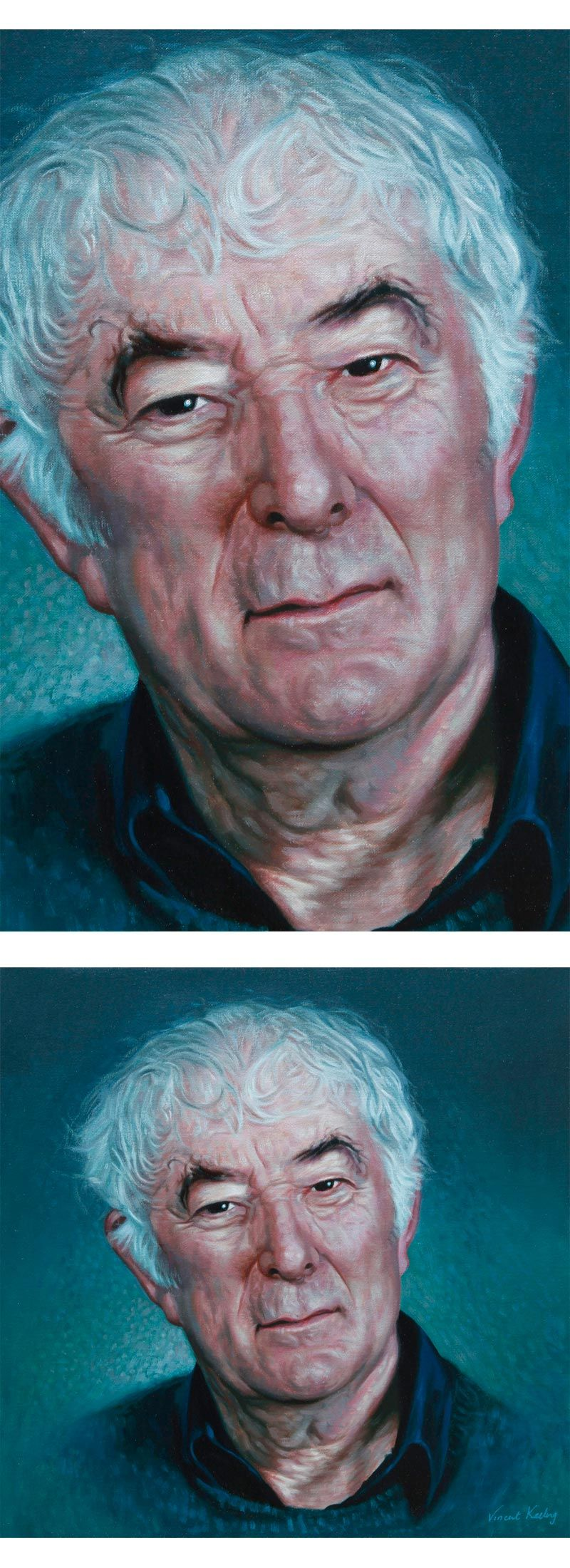 Portrait painting of Seamus Heaney, by Vincent Keeling