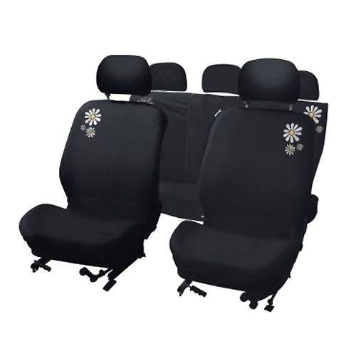 Terrific Cute Daisy Car Seat Cover Set Car Seat Cover Sets Car Machost Co Dining Chair Design Ideas Machostcouk