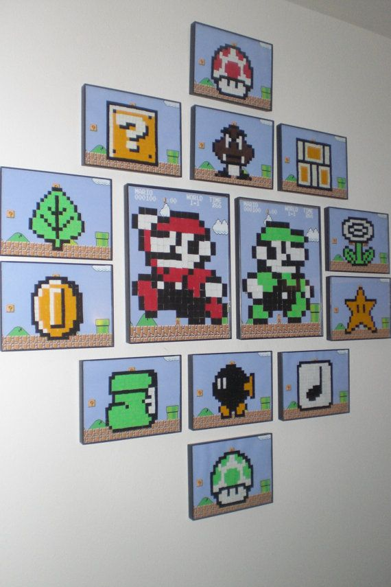 8bit Mario Wall Art by LifeofaGeek on Etsy, $60.00   LifeofaGeek ...
