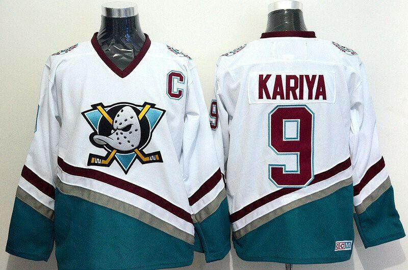 8df8fa619 Ediwallen Men 9 Paul Kariya Hockey Jerseys Ice Mighty Anaheim Ducks Jersey  #ediwallen