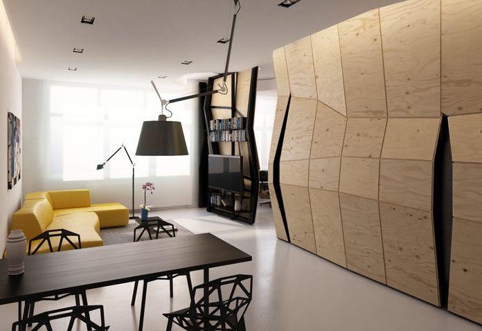 Small Apartment Design 60 Square Meters Apartment Concept