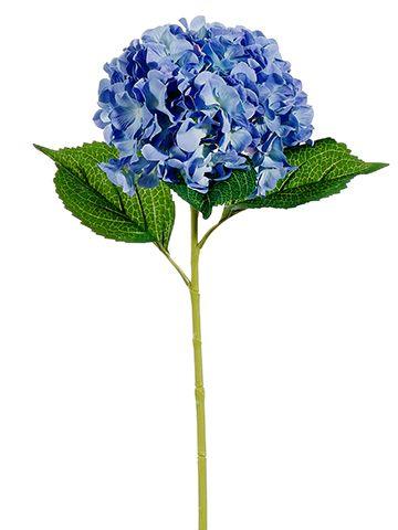 Blue Hydrangea Stem with Soft Green Highlights | Silk Wedding Flowers | Afloral.com