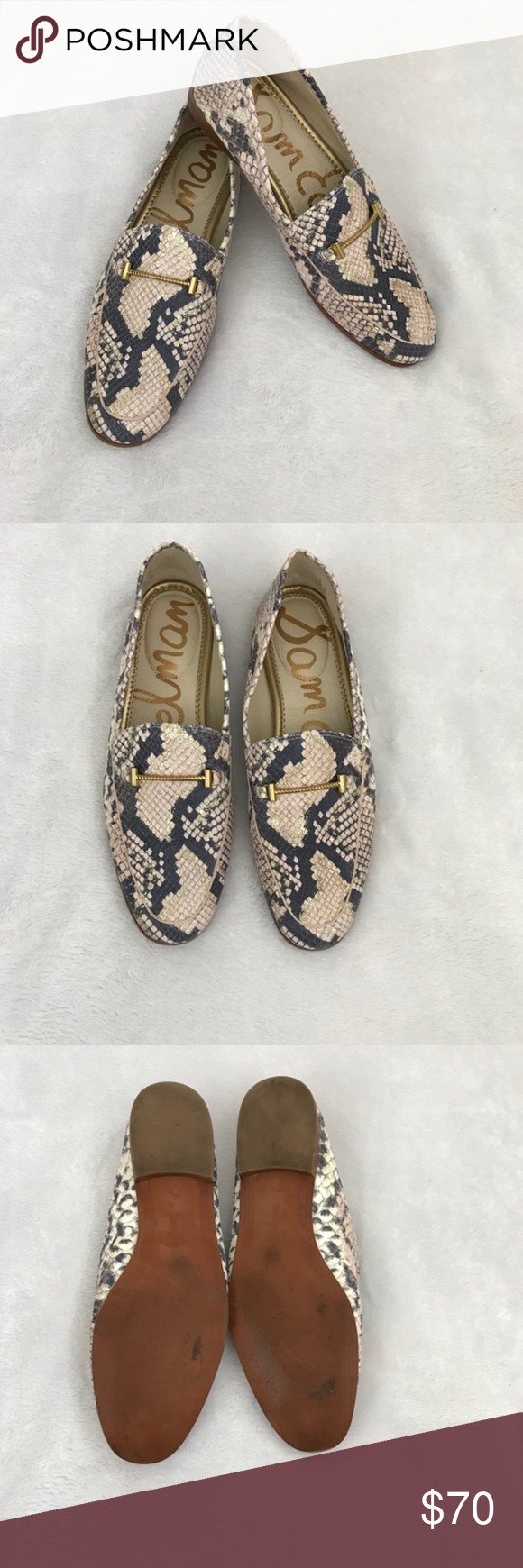 fc65af2479d4 Sam Edelman Loraine Snake Print Leather Loafers These are in excellent  condition with minimal signs of