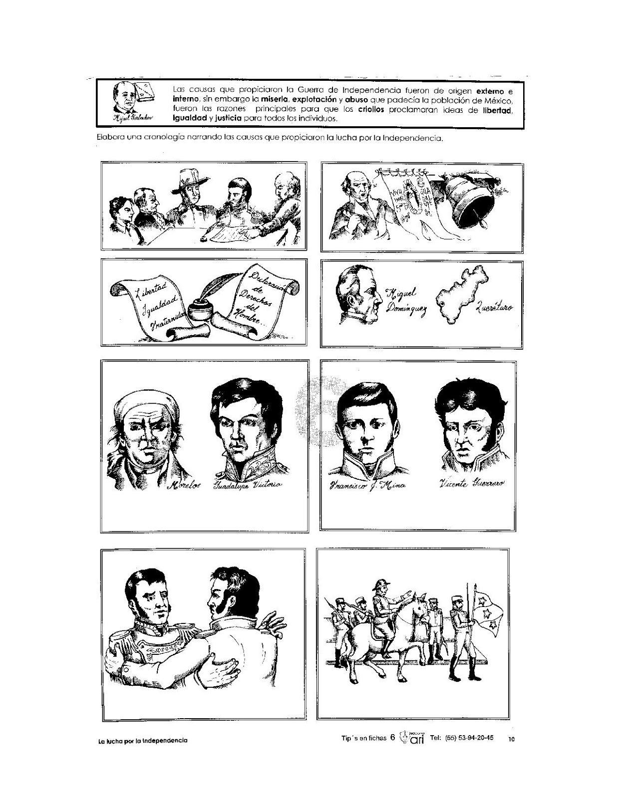 Dibujos Para Colorear De La Independencia De Mexico Para