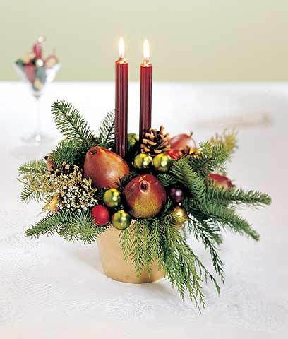 centro-mesa-navideño-frutas Navidad Pinterest Mesas navideñas