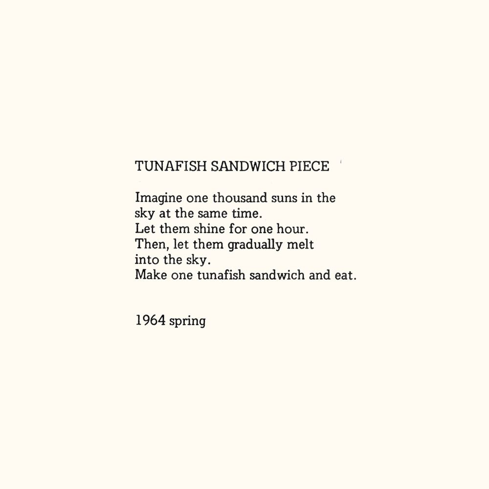 Tunafish Sandwich Piece Imagine One Thousand Suns In The Sky At The Same Time Let Them Shine For One Hour Then Let The Yoko Ono Yoko Quotes To Live By