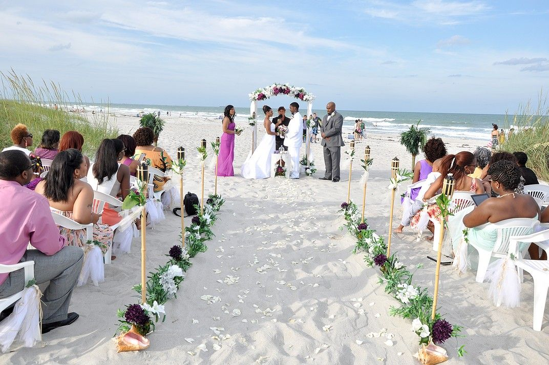 Beach Wedding At Lori Wilson Park In Cocoa Florida RomanticFloridaBeachWeddings