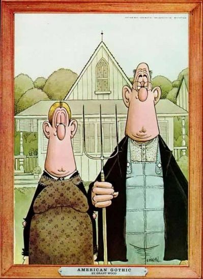 American Gothic by Mad Magazine's Don Martin.