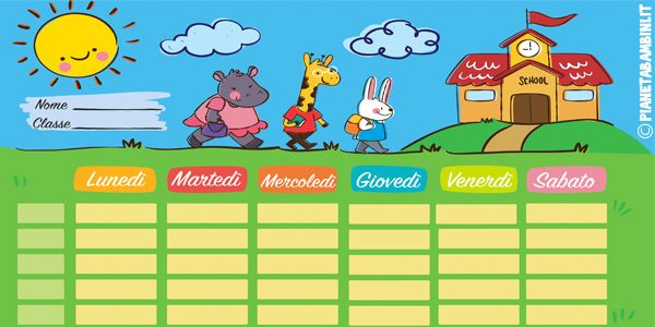 Photo of 10 School Schedule Tables to Print