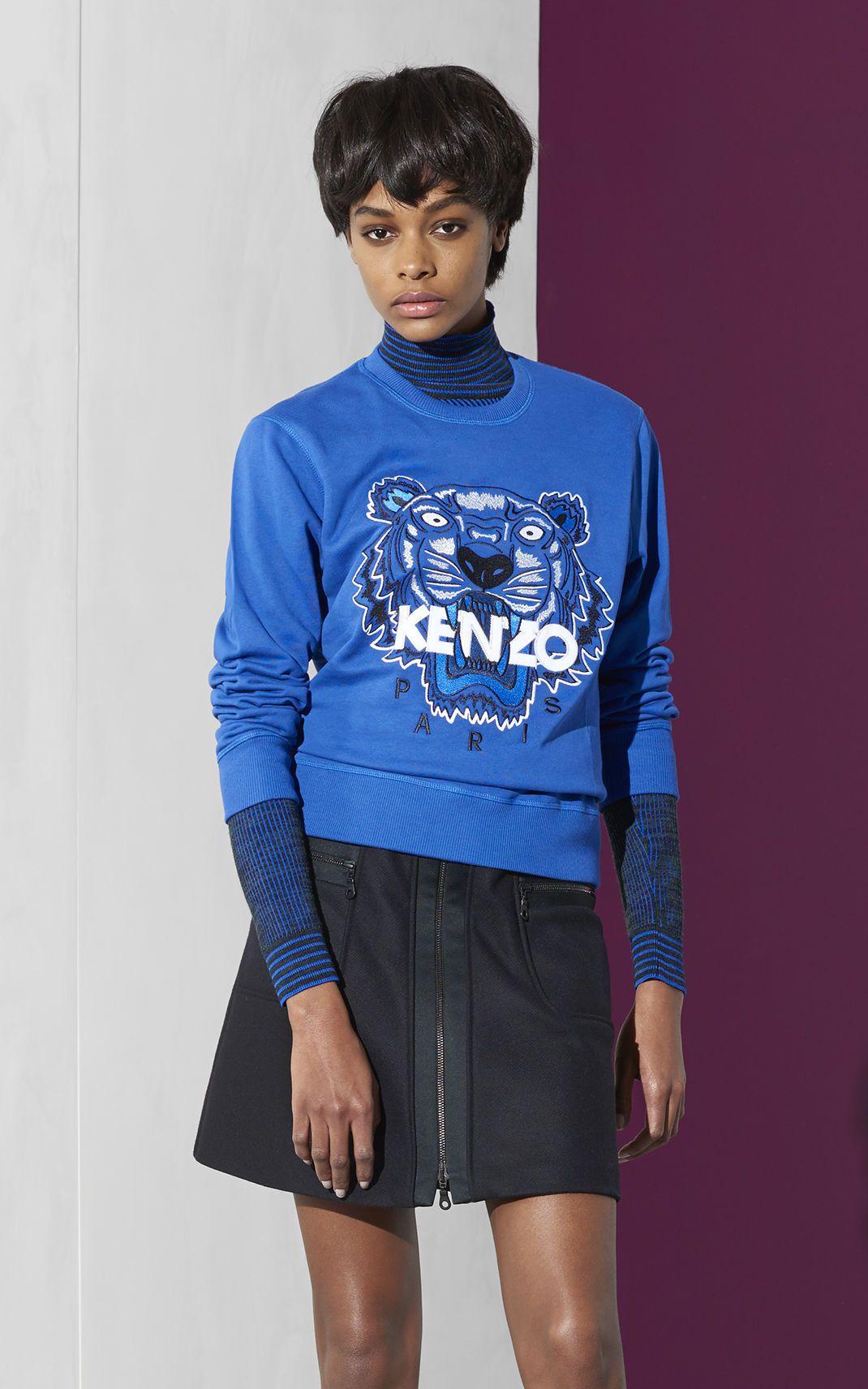 88d86e75 Blue Tiger Sweatshirt, COBALT, KENZO   London in 2019   Kenzo ...