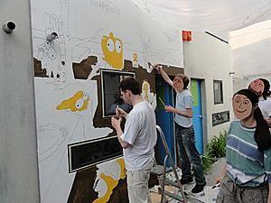 Bungalow Anmalen Olydorf Munchen Es Geht Ans Ausmalen Flachen Gleicher Farbe Haben Wir Immer Auf Einen Rutsch Gem Fassadenmalerei Malerei Bungalow