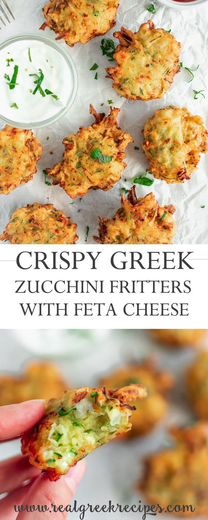 Crispy Zucchini Fritters Recipe With Feta Cheese - Real Greek Recipes