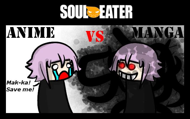 Soul Eater Anime vs. Manga : Chrona by nobodygoddammit on deviantART