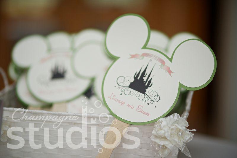 Disney Wedding Programs With Mickey Ears
