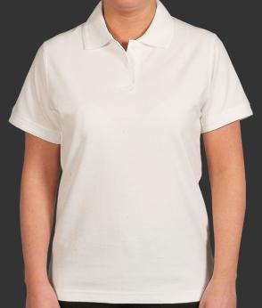 Ladies White Polo Shirt | White polo shirt, Mens tops, White polo