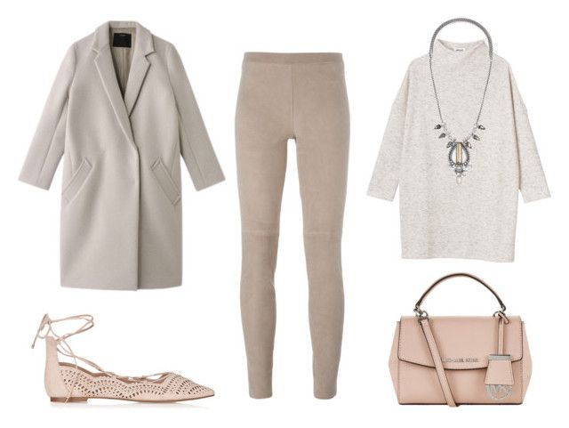 """nudes"" by cree-eyes ❤ liked on Polyvore featuring Monki, Steffen Schraut, Stella & Dot, MICHAEL Michael Kors, Topshop, women's clothing, women, female, woman and misses"