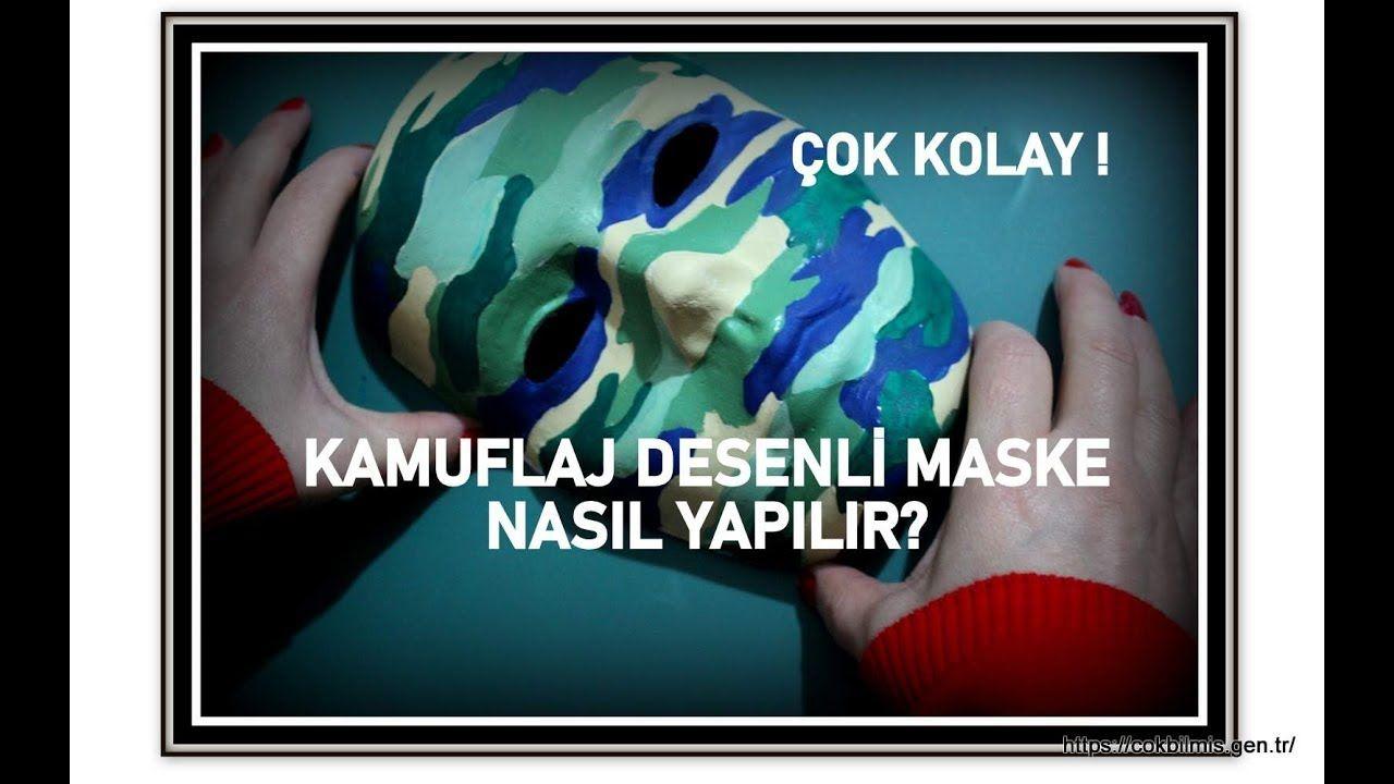 Maske Boyama Kamuflaj Desenli Maske Nasil Yapilir Cok Kolay Izle