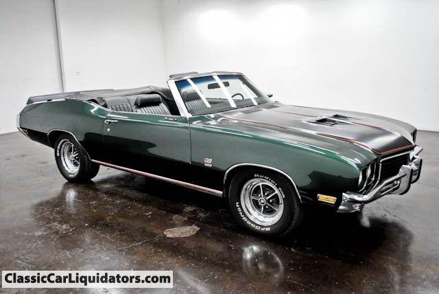 Classic Car Liquidators 1972 Buick Gs Convertible 455 4 Speed 13 999 Buick Gs Classic Cars Muscle Classic Cars