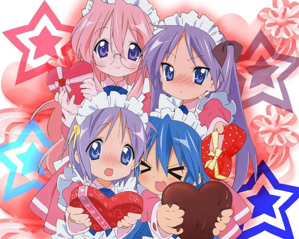 Happy Early Valentine S Day From Lucky Star Anime Anime Wallpaper Lucky Star