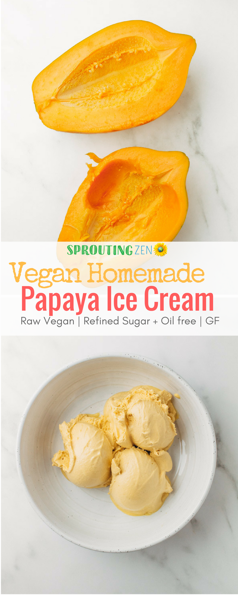 Easy Vegan Papaya Ice Cream