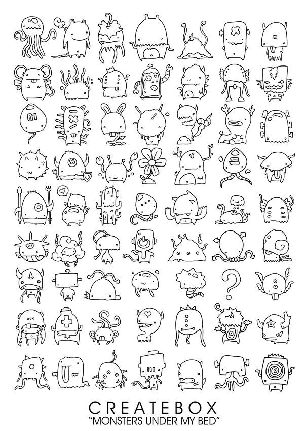 Simple Monster Drawing : simple, monster, drawing, Monster, Under, Injuryordeath, DeviantART, Sketch, Book,, Doodle, Doodles