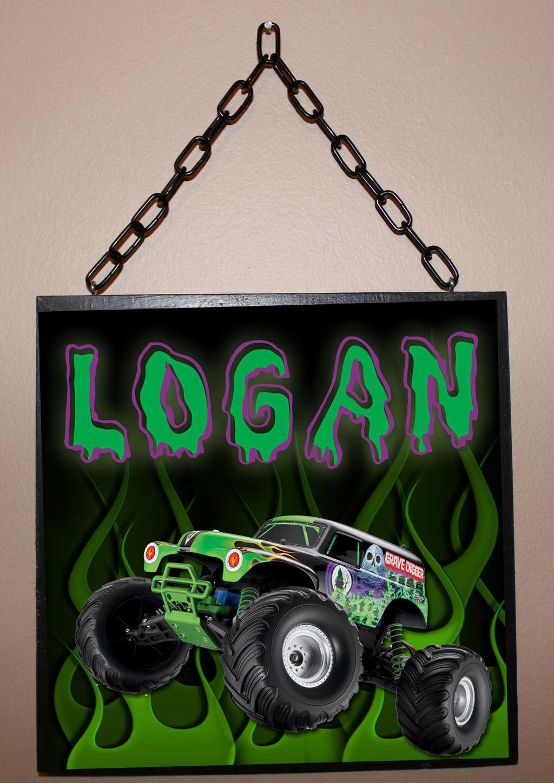 Custom Name Sign - Gravedigger Inspired / Personalized ...