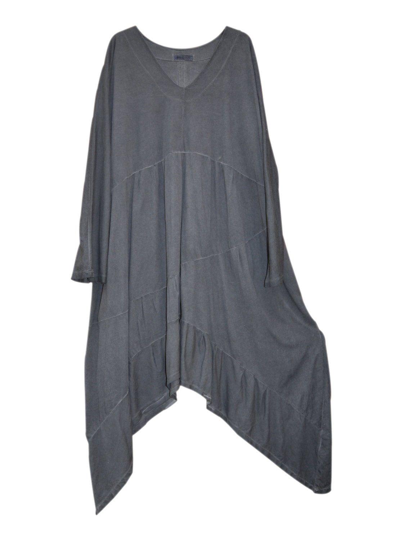 Kekoo Kleid Zwischenteil Lagenlook Grau Gr L Amazon De Bekleidung