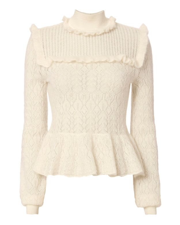 a373fbf027e733 Exclusive for Intermix Lila Pointelle Sweater. Exclusive for Intermix Lila  Pointelle Sweater Pink Long Sleeve Tops ...