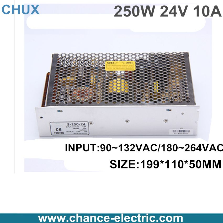 New CNC 24V 10A Regulated Switching Power Supply Driver for
