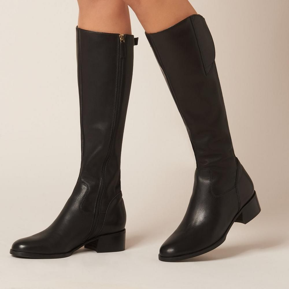 42c233a0d7f Tala Black Leather Knee Boots | Shoes | L.K.Bennett | Style to shop ...