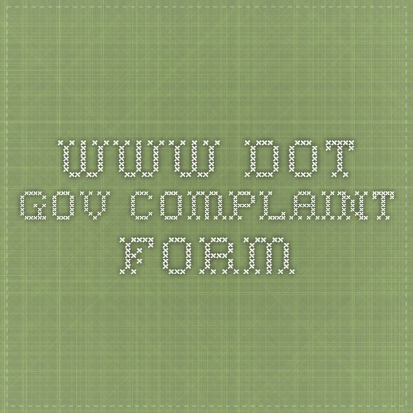 wwwdotgov Complaint form Travel planning Pinterest - complaint form