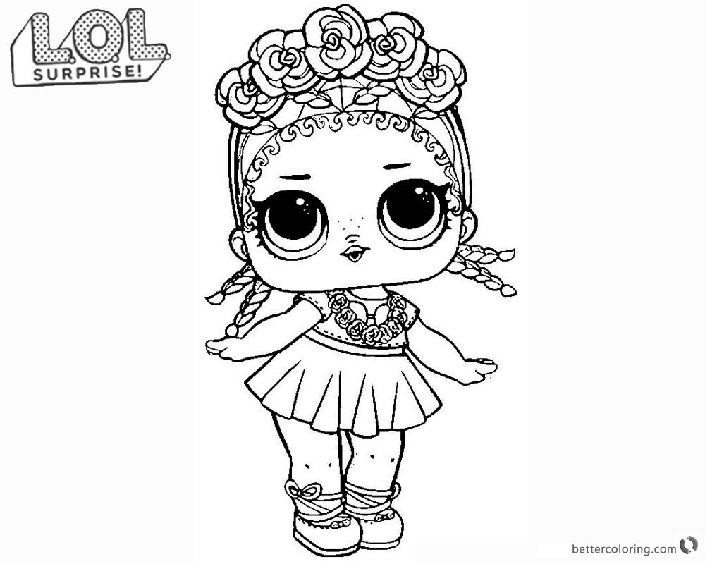 Lol Surprise Doll Coloring Pages Coconut Q T Mermaid Coloring