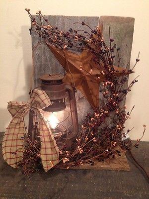 Country Primitive Lantern Decoration Metal Barn Star  Berry's Home Decor