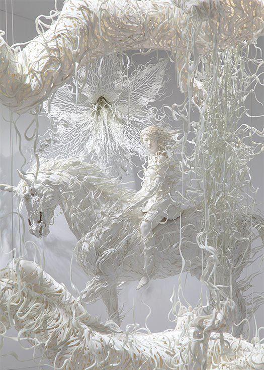 Curiosas y raras esculturas realizadas por el artista Odani Motohiko. Son hermosas, y muy poco comunes, sin duda no es algo que estamos acostumbrados a ver