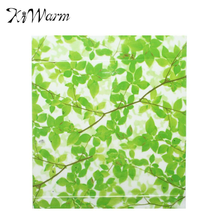 High quality 45200cm green leaves glass frosted window film sticker room privacy protection decorative