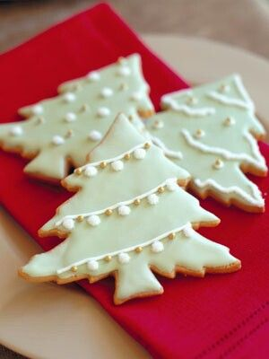 Christmas Tree Shaped Cookies Not My Picture But We Copied These