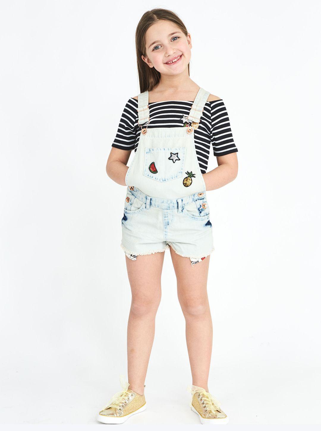 #kids #girl #pinterest #pinit #short #salopette #patch #piazzaitalia