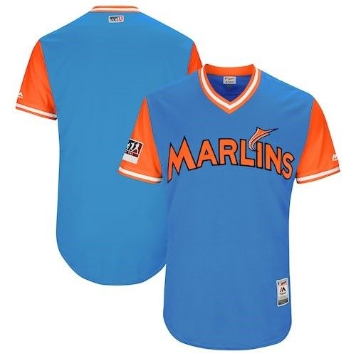 1be1b81e Miami Marlins Majestic 2017 Players Weekend Authentic Team Jersey - Royal,  Boy's, Size: 52, Light Blue
