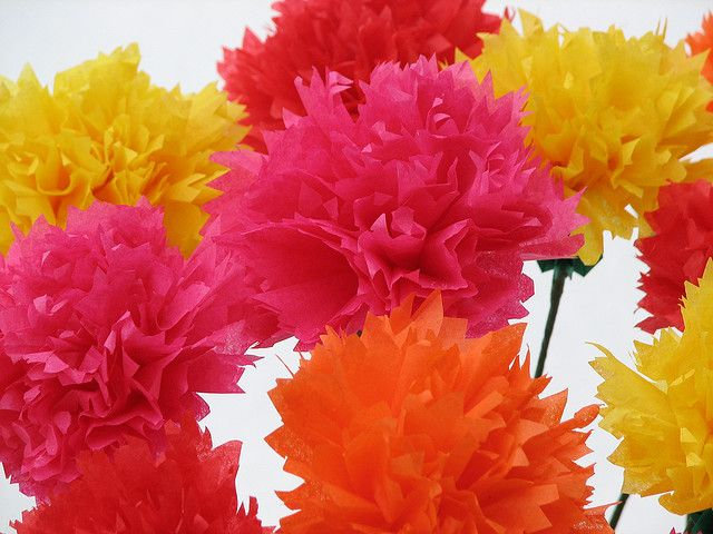 Origami carnations origami carnation and flower origami carnations by dancusa via flickr origami flowers mightylinksfo Images