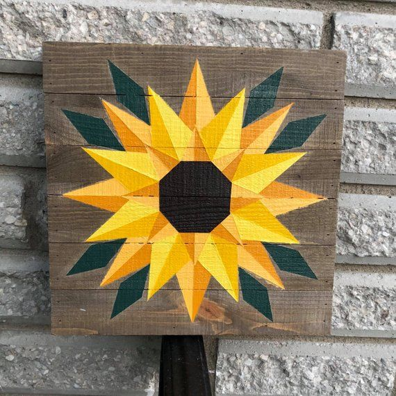 Sunflower Barn Quilt Barn Quilts Barn Quilt Designs